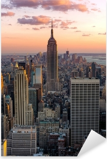 New York Empire state building Pixerstick Sticker