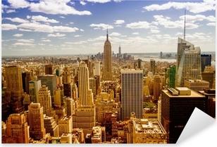 New York Skyline Pixerstick Sticker