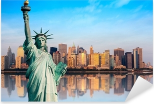 New York statue de la Liberté Pixerstick Sticker