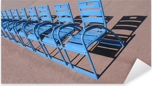 Sticker Pixerstick Nice Promenade des Anglais, les chaises bleues