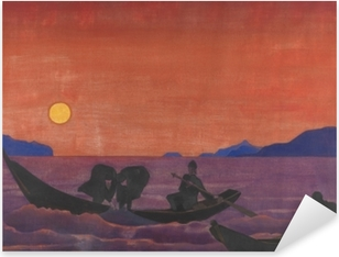 Nicholas Roerich - And We Continue Fishing Pixerstick Sticker