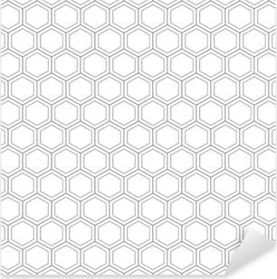 Sticker Pixerstick Nid d'abeille seamless pattern.vector illustration.hexagonal texture. grille sur fond blanc. conception géométrique. texture abstraite élégante moderne. modèle pour impression, textile, emballage et décoration