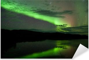 Pixerstick Sticker Night Sky Stars Wolken Northern Lights gespiegeld