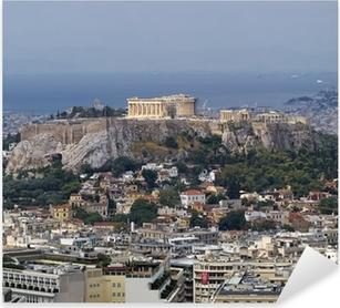 north view of Parthenon Acropolis Athens Greece Pixerstick Sticker