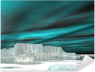 Northern lights (aurora borealis) - 3D render Pixerstick Sticker