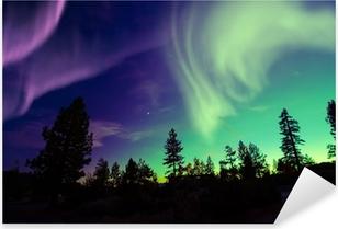 northern lights aurora borealis Pixerstick Sticker