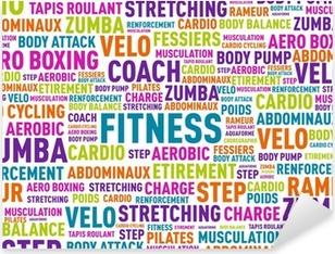 nuage de mots fitness Pixerstick Sticker