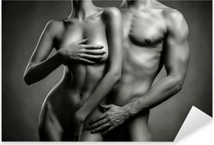 Nude sensual couple Pixerstick Sticker