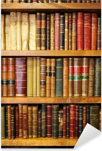 Old books, library Pixerstick Sticker