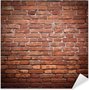 Old grunge red brick wall texture Pixerstick Sticker