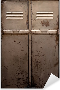 Old metal locker Pixerstick Sticker