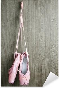 old pink ballet shoes Pixerstick Sticker