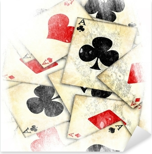 old playing card Pixerstick Sticker
