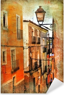 old streets of Spain - artistic picture Pixerstick Sticker