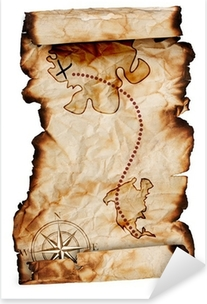 old treasure map Pixerstick Sticker