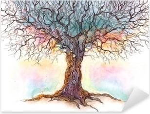 old tree (series C) Pixerstick Sticker