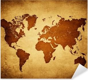 old world map Pixerstick Sticker