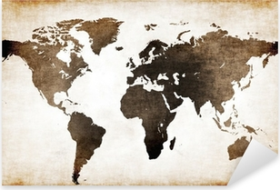 Old world map Pixerstick Sticker