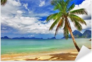 Pixerstick Sticker Ontspannend tropisch landschap