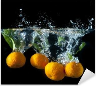 Orange splash Pixerstick Sticker
