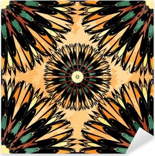 Pixerstick Sticker Oriental kleurrijk ornament naadloze patroon Vector illustratie