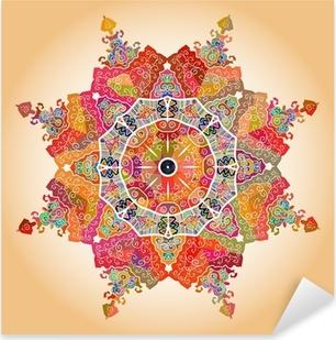 Oriental mandala motif Pixerstick Sticker