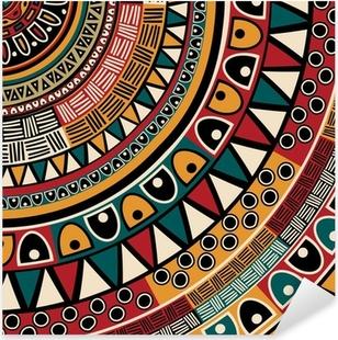 Sticker Pixerstick Origine ethnique tribal