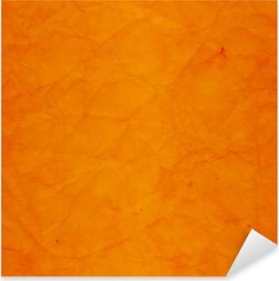 Pixerstick Sticker Oude muur met verweerde oranje verf