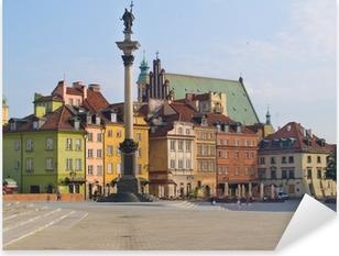 Pixerstick Sticker Oude stadsplein, Warschau, Polen