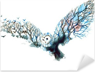owl Pixerstick Sticker