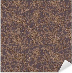paisley fabric orient seamless pattern Pixerstick Sticker