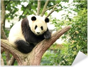 Sticker Pixerstick Panda géant à la forêt