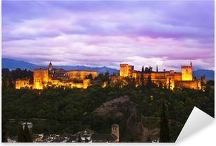 Panorama of Alhambra, Granada, Spain Pixerstick Sticker