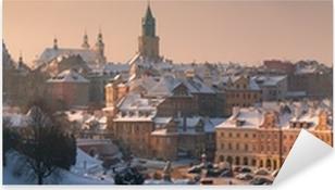 Panorama of Lublin Pixerstick Sticker