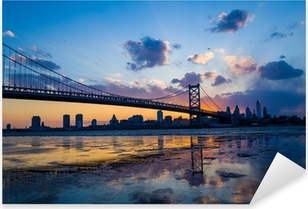 Panorama of Philadelphia skyline Pixerstick Sticker