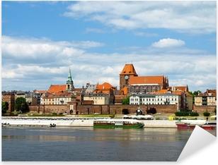 Panorama of Torun, Poland. Pixerstick Sticker