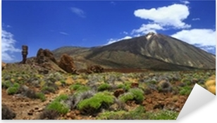 Panoramic image of the volcano Teide on the island of Tenerife Pixerstick Sticker