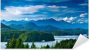 Panoramic view of Tofino, Vancouver Island, Canada Pixerstick Sticker