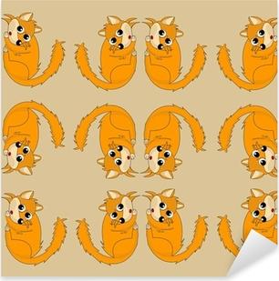 papier cadeau renard Pixerstick Sticker