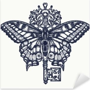 stickers papillons pixers nous vivons pour changer. Black Bedroom Furniture Sets. Home Design Ideas