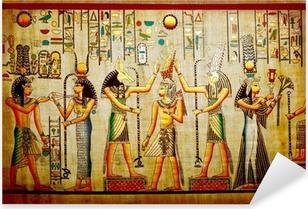 Sticker Pixerstick Papyrus vieux papier naturel de l'Egypte