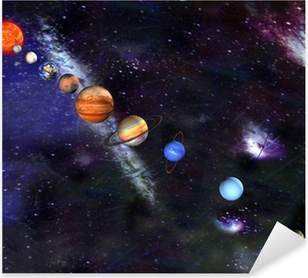 Parade of the planets Pixerstick Sticker