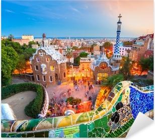 Pixerstick Sticker Park Guell in Barcelona, Spanje.