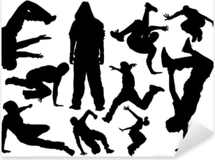 parkour vector Pixerstick Sticker