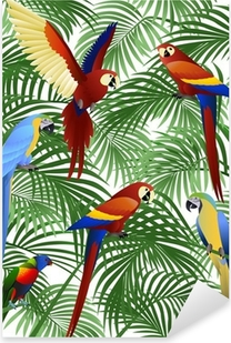 Sticker Pixerstick Parrot bird