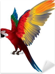 Parrot Spread Wings Pixerstick Sticker