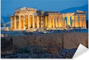 Parthenon on the Acropolis in Athens Pixerstick Sticker