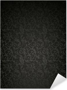Pixerstick Sticker Patroon van het Behang, zwart
