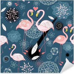 pattern of love flamingos Pixerstick Sticker