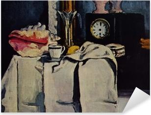 Pixerstick Sticker Paul Cézanne - De zwart marmeren klok